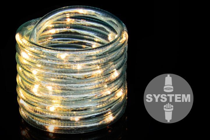 diLED svetelný kábel - 40 LED teplá biela