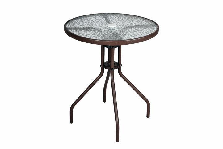 Bistro stolek se skleněnou deskou