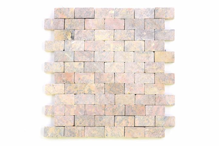 Mramorová mozaika Garth – červená – obklady 1 ks