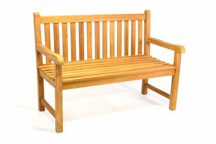 Záhradná lavica DIVERO 2-miestna masívna 120 cm