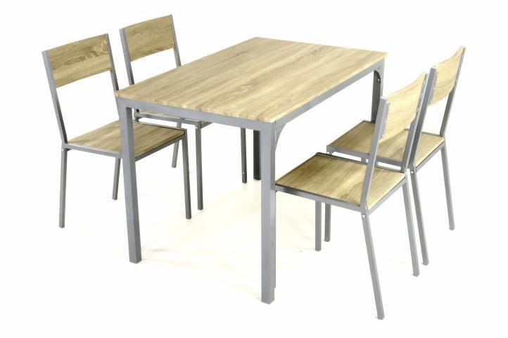 Jedálenská zostava - stôl a 4 stoličky