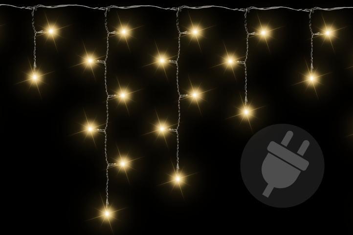 Vianočný svetelný dážď 200 LED teplá biela - 4 m