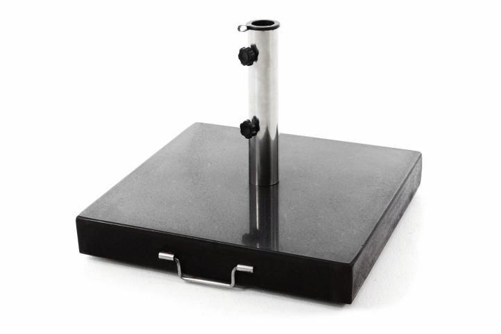 Podstavec pre slnečník štvorcový žula - 50 kg čierny