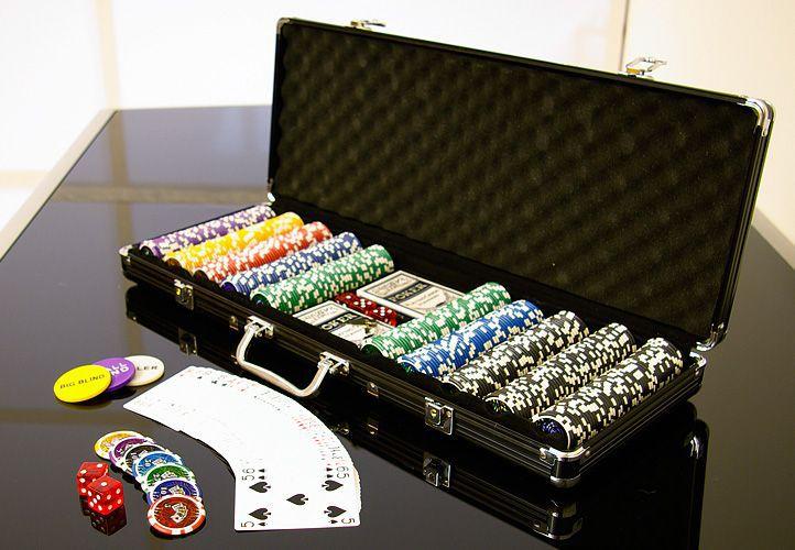 Poker set 500 ks 5-1000 OCEAN BLACK EDITION