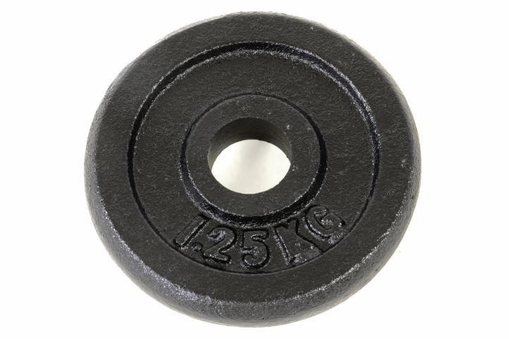 Závažie na činky 1,25 kg čierne