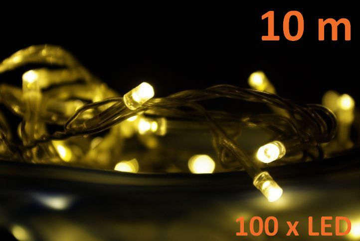 LED osvetlenie Garth 10m - teple biele, 100 diód