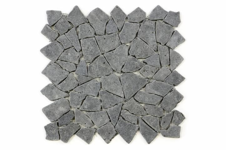 DIVERO Mozaika Garth z andezitu čierna / tmavo sivá 33 x 33 cm