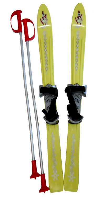 Plastkon Lyže detské 90cm - žlté