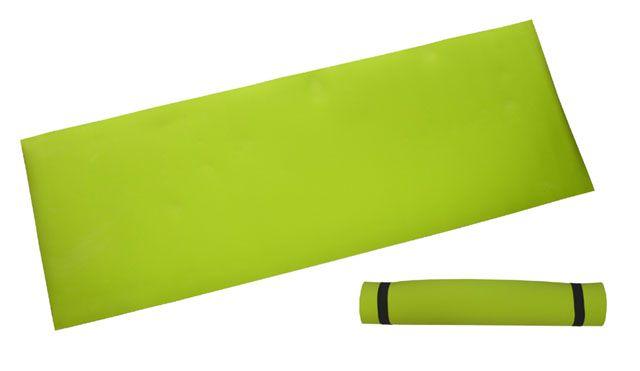 Gymnastická podložka 173 x 61 x 0,4 cm, lemon