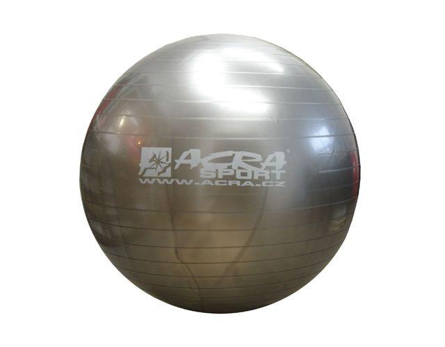 Gymnastická lopta 65 cm strieborná