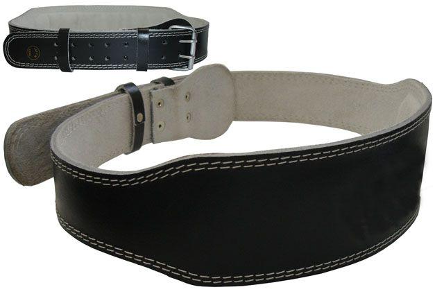 Vzpieračský pás kožený - veľkosť L - 110 - 115 cm