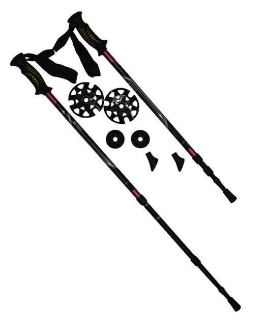 Nordic walking palice grafitové odľahčené