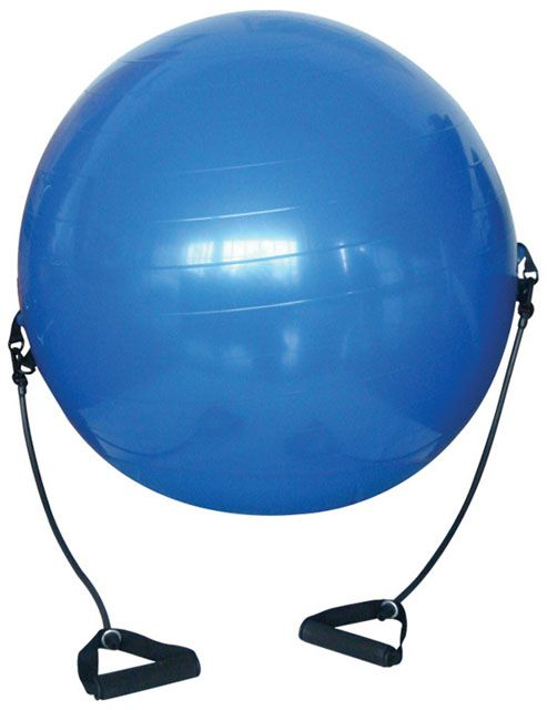 Gymnastický míč s expandéry - 650 mm