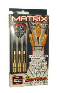 Šipky s kovovým hrotem HARROWS STEEL MATRIX  24g