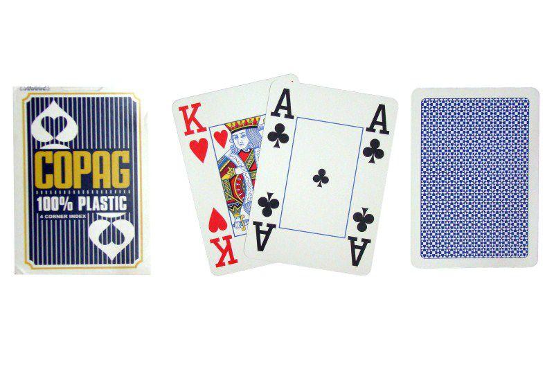 Poker karty Copag Jumbo 4 rohy Blue