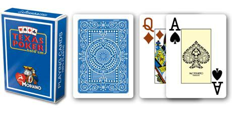 Modiano 2 rohy 100% plastové karty - Modré