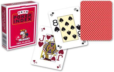 Modiano mini 4 rohy pokerové karty - Červená