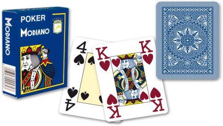 Modiano 4 rohy 100% plastové karty - Modré