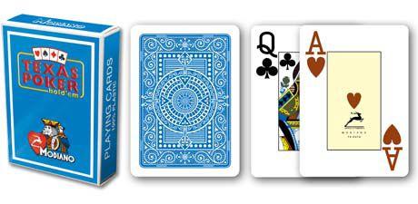 Modiano 2 rohy 100% plastové karty - Svetlo modré
