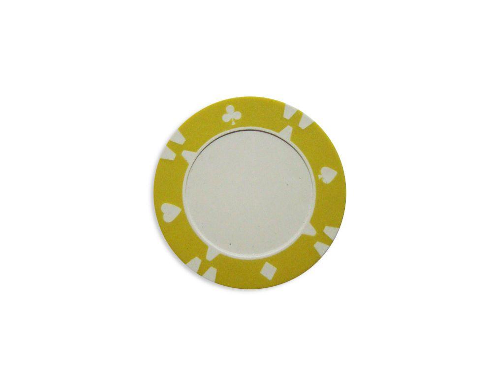 Kusový žetón dizajn Flop žltý - 1 ks