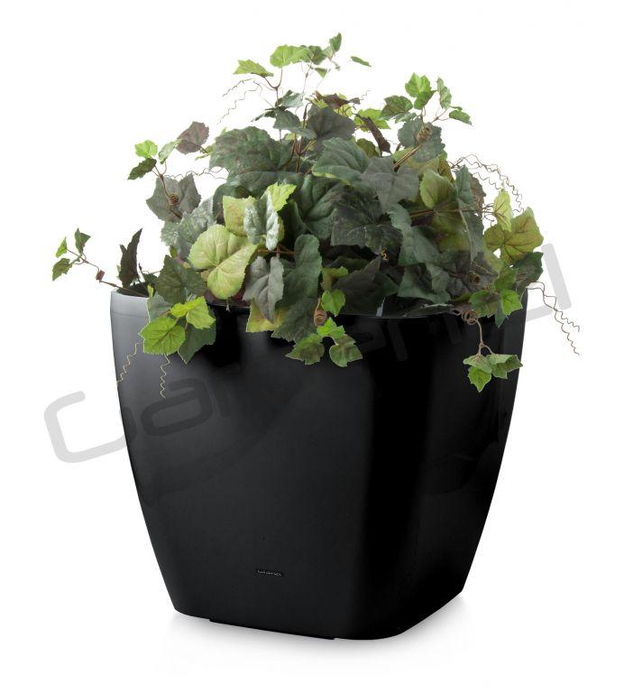 Samozavlažovací kvetináč G21 Cube maxi čierny 45cm