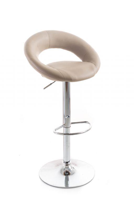 Barová židle G21 Orbita koženková, kávová