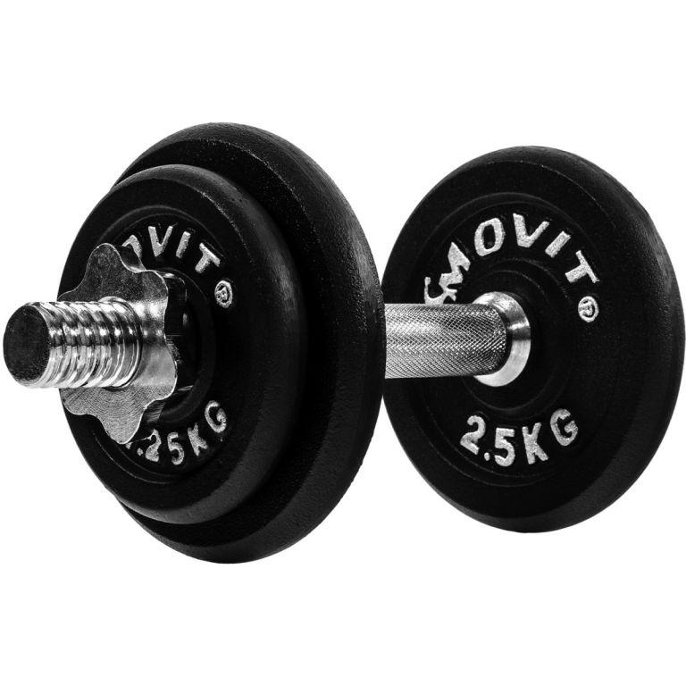 Jednoručná liatinová činka MOVIT 10 kg