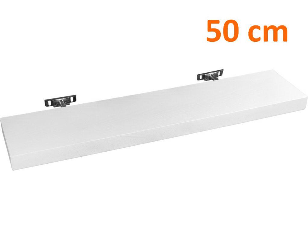 Nástenná polica STILISTA SALIENTO - biela 50 cm