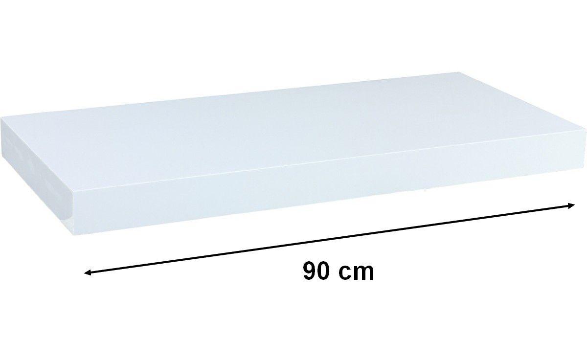 Nástěnná police STILISTA VOLATO - bílá 90 cm