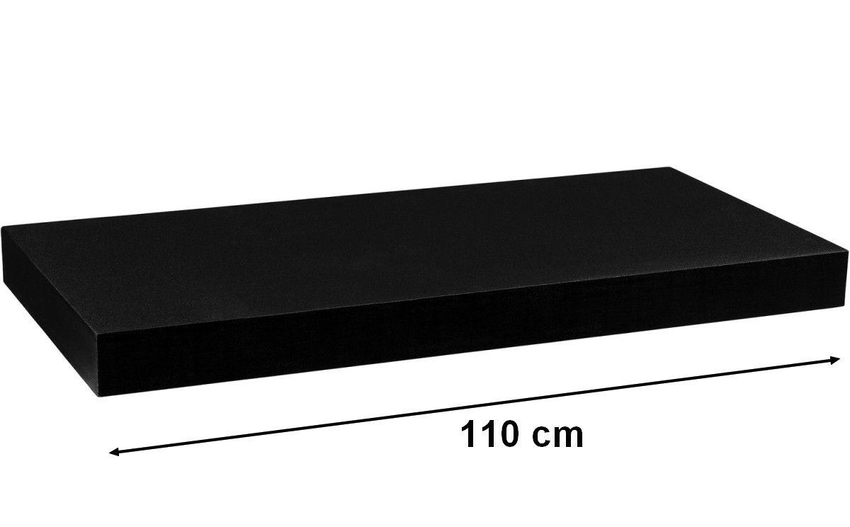 Nástenná polica STILISTA VOLATO - čierna 110 cm