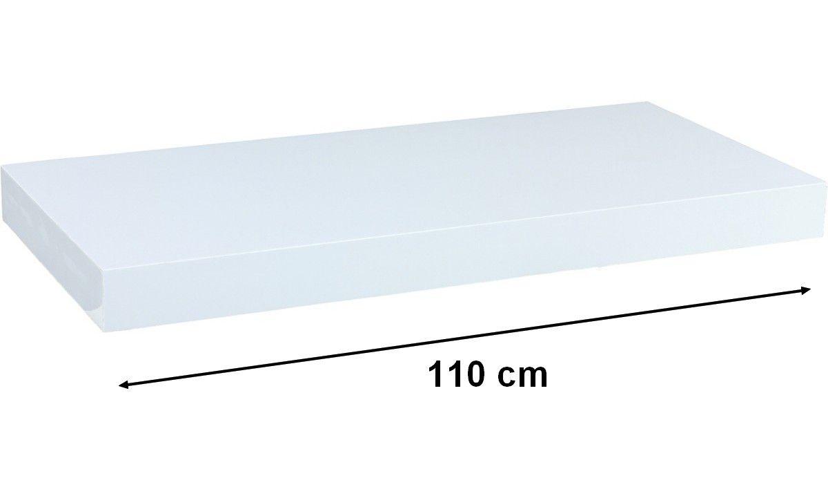 Nástenná polica STILISTA VOLATO - biela 110 cm