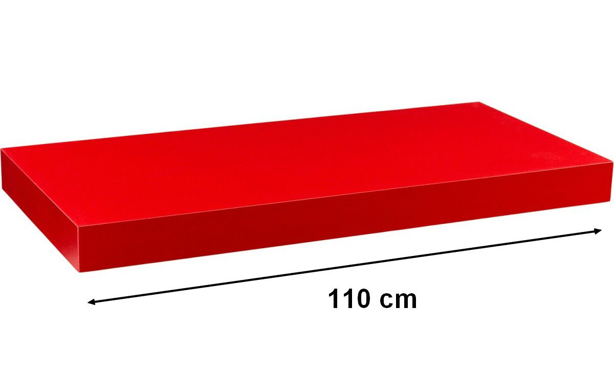 Nástenná polica STILISTA VOLATO - červená 110 cm