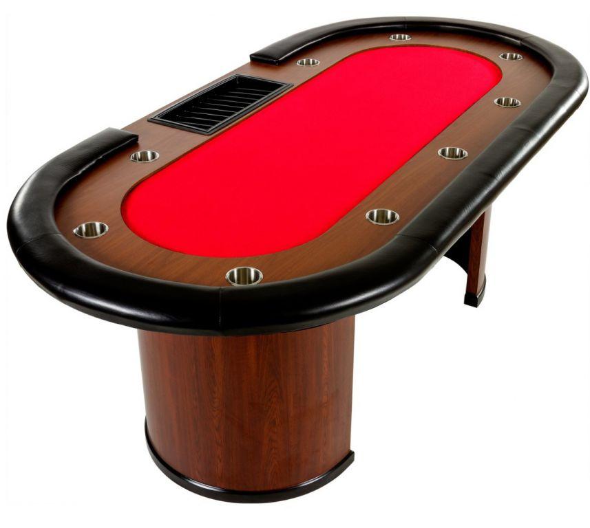 XXL pokerový stůl Royal Flush, 213 x 106 x 75cm, červená
