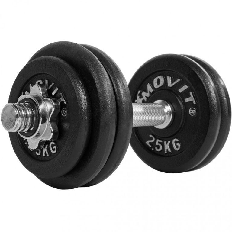 Jednoručná liatinová činka MOVIT - 30 kg
