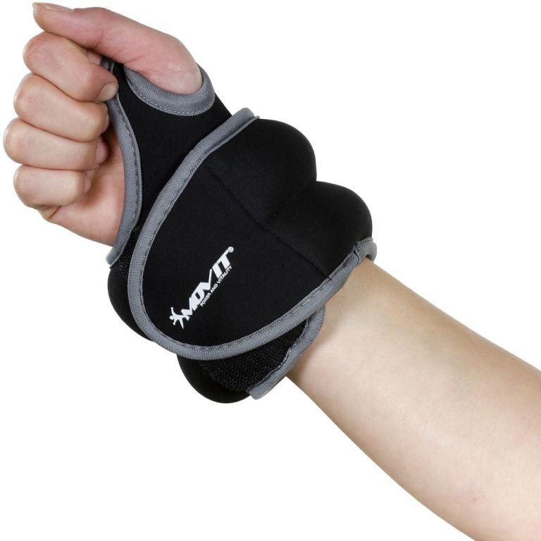 MOVIT neoprénová kondičná záťaž 1,5 kg, čierna