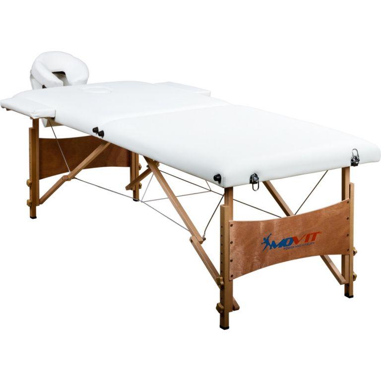 Prenosné masážne ležadlo biele 184 x 70 cm