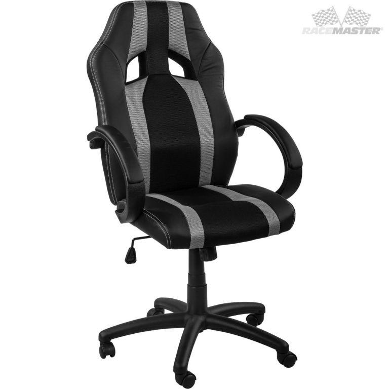 RACEMASTER 39166 Kancelárska stolička GS Tripes Series čierna/sivá