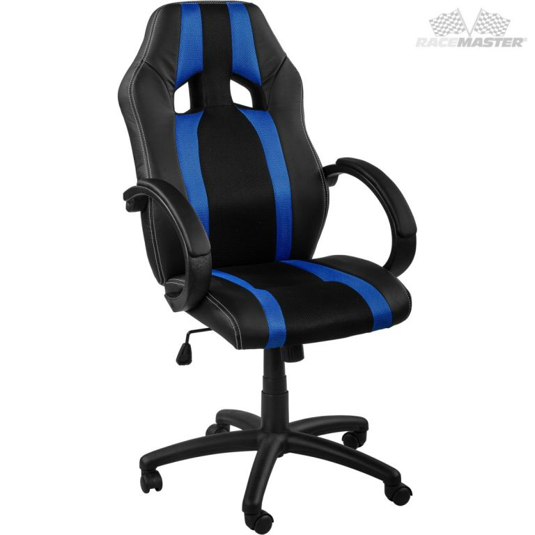 RACEMASTER 39167 Kancelárska stolička GS Tripes Series čierna/modrá