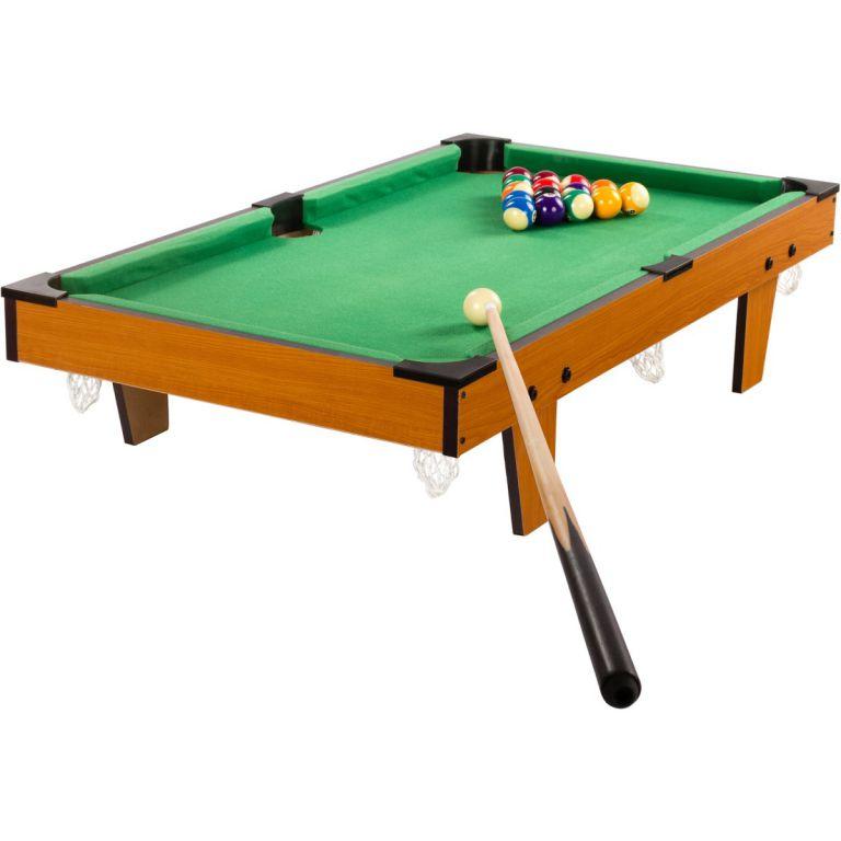 Mini kulečník pool s příslušenstvím 92 x 52 x 19 cm - světlý