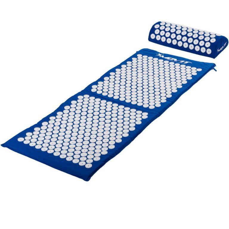 Akupresúrna podložka s vankúšom MOVIT 130 x 50 cm - modrá