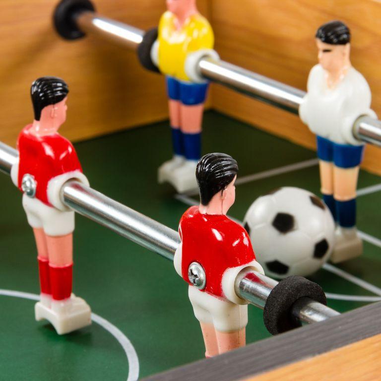 Mini stolní fotbal fotbálek s nožičkami 70 x 37 x 25 cm - černý