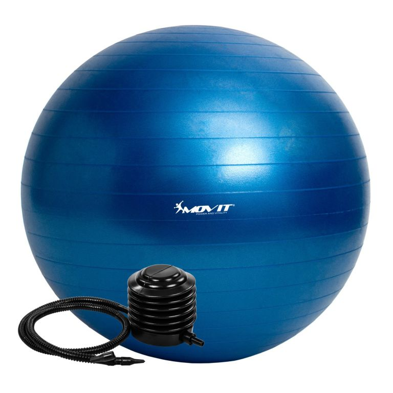 Gymnastický míč MOVIT s pumpou - 55 cm - modrý
