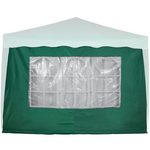 Bočná stena s trojdielnym oknom - 3 x 3 m - zelená