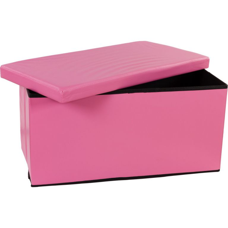 Skládací lavice s úložným prostorem – růžová