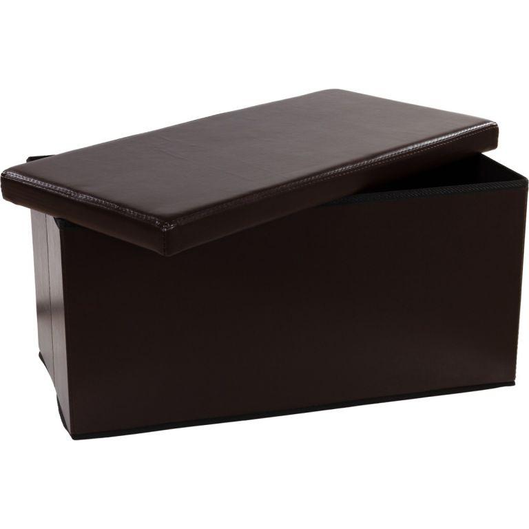 Skládací lavice s úložným prostorem - hnědá
