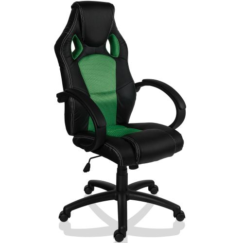 RACEMASTER 9498 Otočná kancelárska stolička zelená GS Series