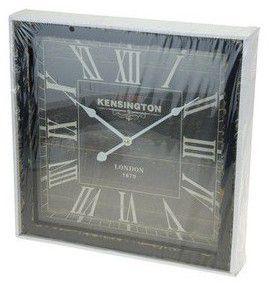 Drevené nástenné hodiny 40 x 40 cm - ČIERNE