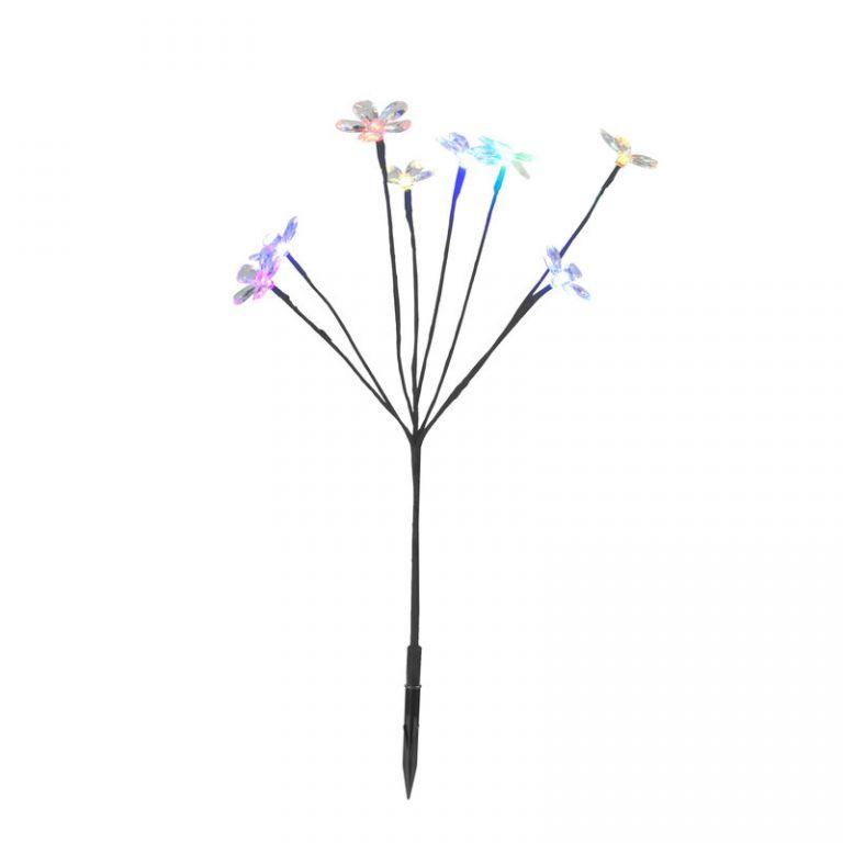Zahradné LED solárne osvetlenie - kvetinový ker