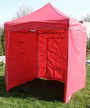 Záhradný párty stan CLASSIC nožnicový + bočné steny - 2 x 2 m červený