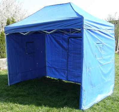 Záhradný párty stan CLASSIC nožnicový + bočné steny - 3 x 2 m modrý